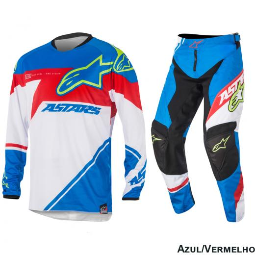 Kit Cal�a + Camisa Alpinestars Racer Supermatic 16