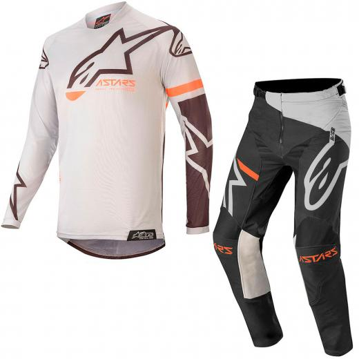 Kit Cal�a + Camisa Alpinestars Racer Tech Compass 2020