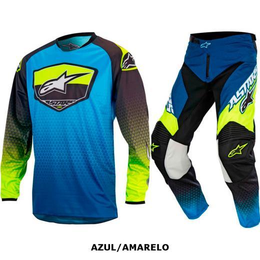 Kit Cal�a + Camisa Alpinestars Racer Supermatic 17