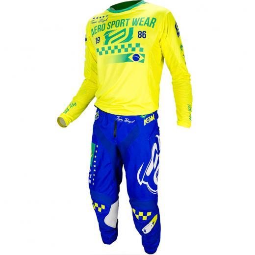 Kit Cal�a + Camisa ASW Podium Race Sele��es - Brasil