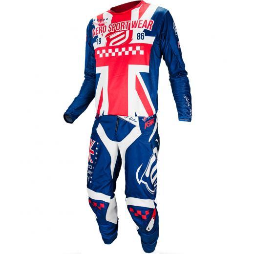 Kit Cal�a + Camisa ASW Podium Race Sele��es - Gr�-Bretanha