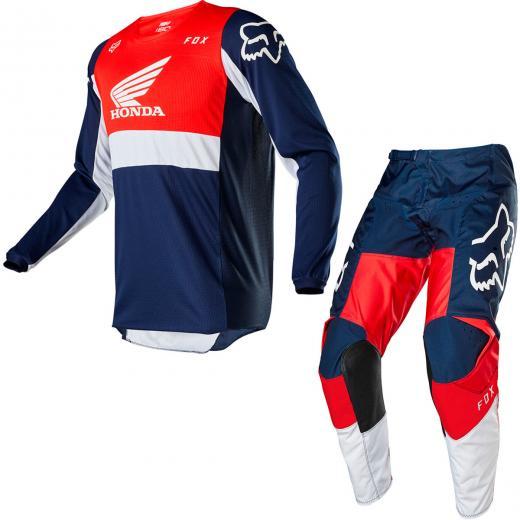 Kit Cal�a + Camisa Fox 180 Honda 2020
