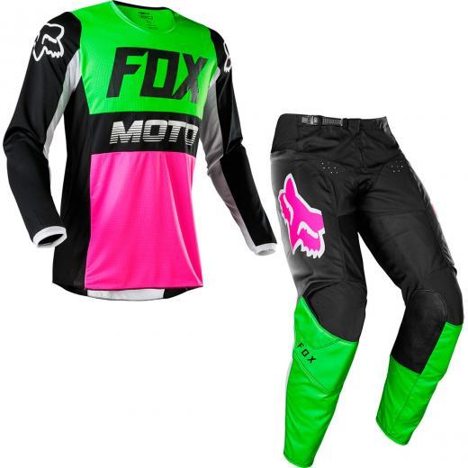Kit Cal�a + Camisa Fox 180 Fyce 2020 Verde/Rosa