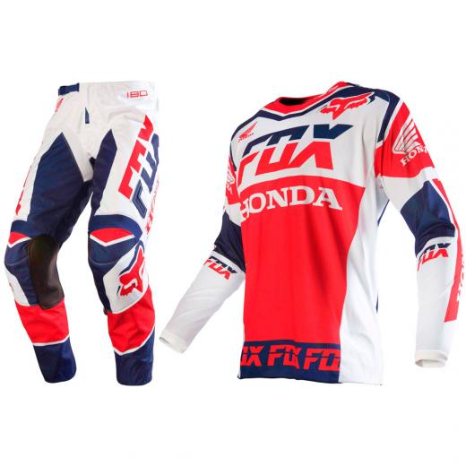 Kit Cal�a + Camisa Fox 180 Honda