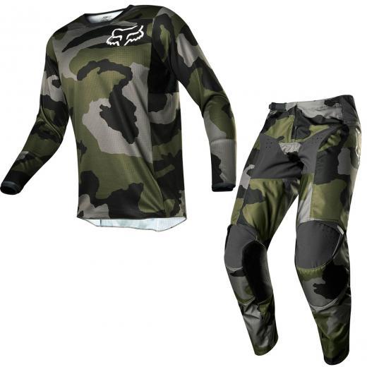 Kit Cal�a + Camisa Fox 180 Przm Camo 2020