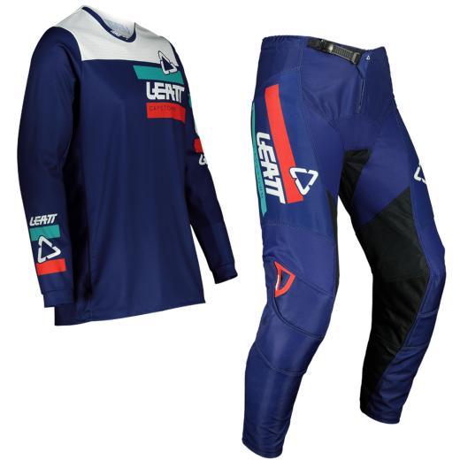 Kit Cal�a + Camisa Leatt 3.5 Ride Azul 2022