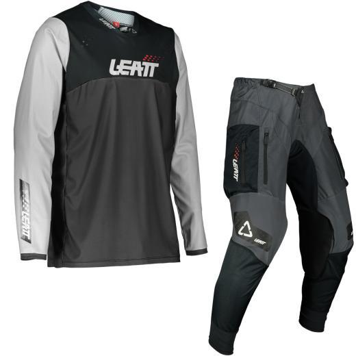 Kit Cal�a + Camisa Leatt 4.5 Enduro Cinza 2022