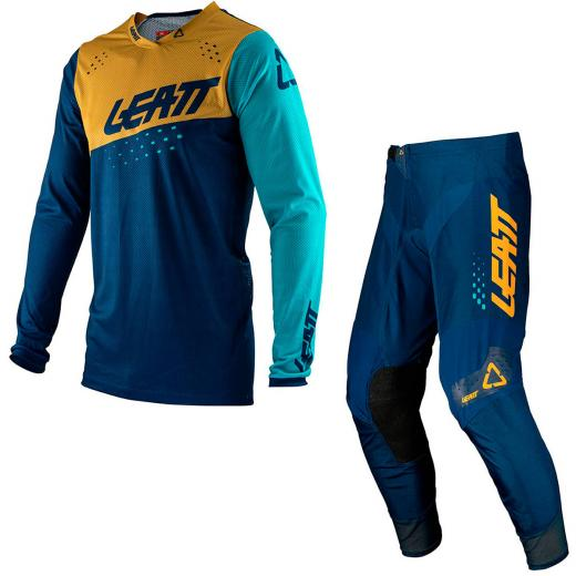 Kit Cal�a + Camisa Leatt Moto 4.5 Gold 2021