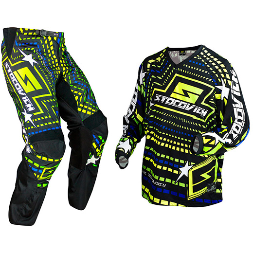 Kit Cal�a + Camisa Stocovich Racing Fluor BR