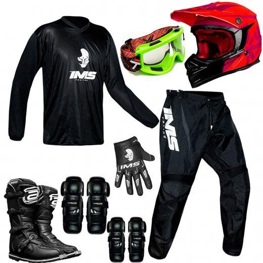Kit Equipamentos Motocross - 8 Itens