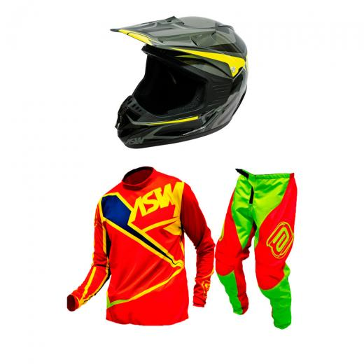 Kit Equipamento Motocross Factory