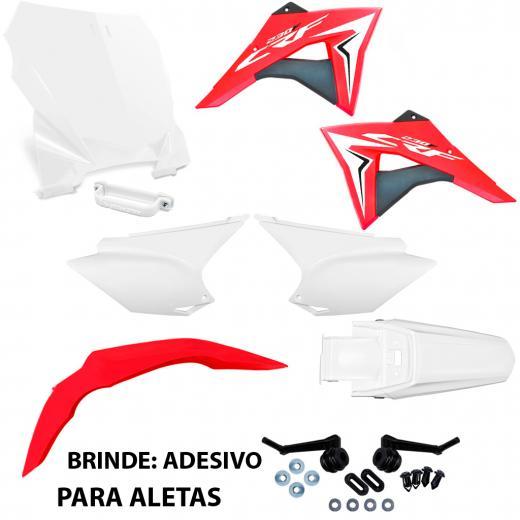 Kit Pl�stico CRF 230 Avtec + Aletas e Number Plate Biker