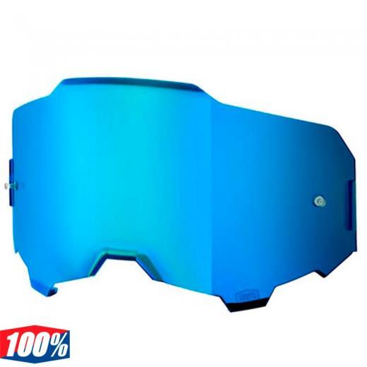 Lente 100% Armega Azul Espelhada