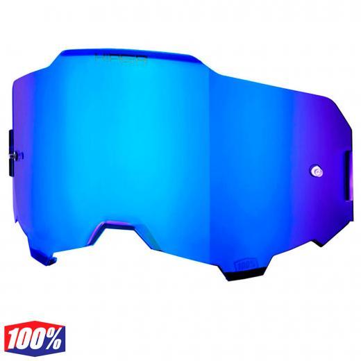 Lente 100% Armega Hiper Espelhada Azul