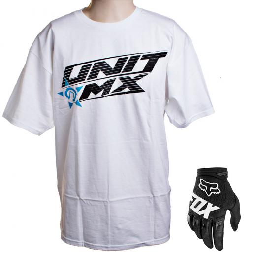 Kit Luva Fox Dirtpaw Race 2020 e Camiseta Unit MX3