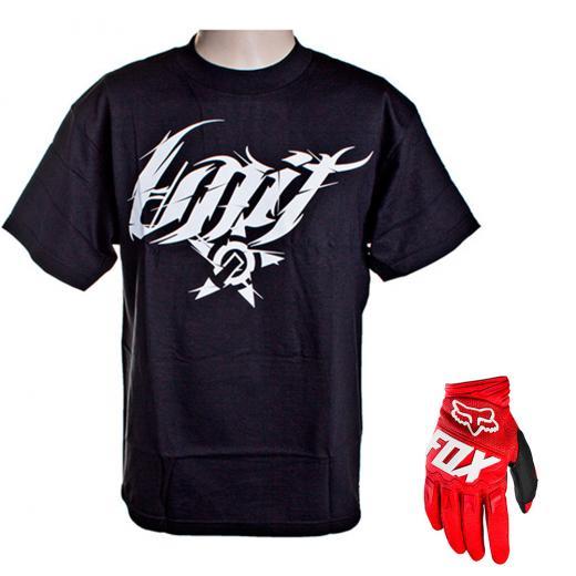 Kit Luva Fox Dirtpaw Race 2020 e Camiseta Unit Switchblade