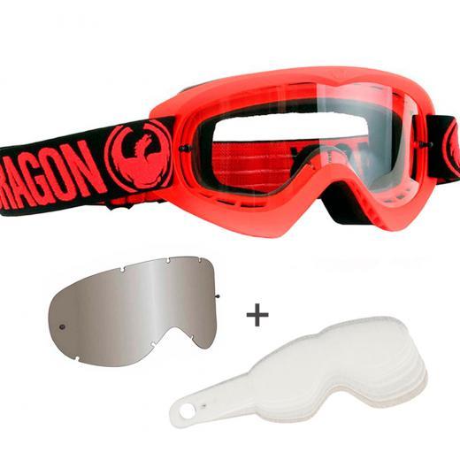 �culos Dragon MDX Red Clear + Tear-off MDX Laminado BRINDE Lente Dragon MDX Espelhada ION