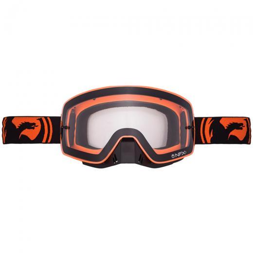 �culos Dragon NFXs Black Orange Split - Clear