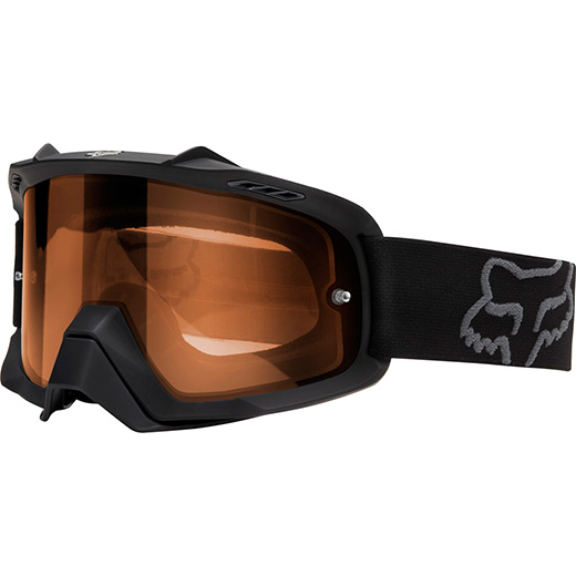 �culos Fox Air SPC Enduro Matte Black Lente Laranja