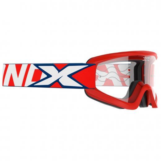�culos X-Brand Flat-Out Vermelho - Lente Transparente