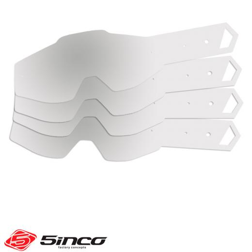Tear Off 5inco 100% Strata / Accuri / Racecraft - 12 Unidades